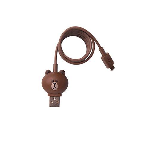 Micro USB 5 контактний кабель для підключення смартфона Line Friends – Brown