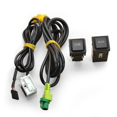 OEM AUX and USB Cable for Volkswagen with RNS510 RCD510 Head Unit