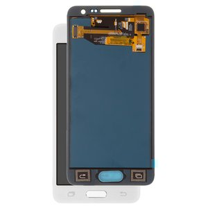 LCD compatible with Samsung A300 Galaxy A3, (white, with touchscreen, without adjustment of light, (TFT), Copy)