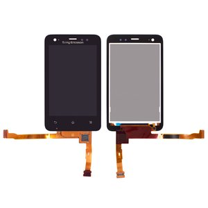 LCD for Sony Ericsson ST17i Cell Phone, (black, with touchscreen)