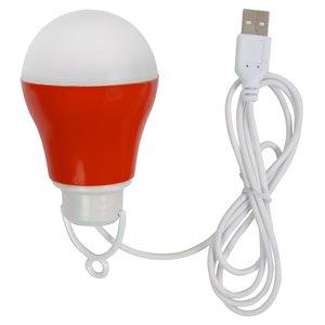 USB LED Light 5 W (cold white, red housing, 5 V, 450 lm)