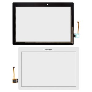 Touchscreen for Lenovo TAB 2 A10-70F, Tab 2 A10-70L Tablets, (white) #101-1947-V6