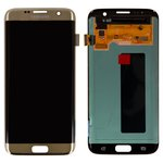 LCD for Samsung G935F Galaxy S7 EDGE, G935FD Galaxy S7 EDGE Duos Cell Phones, (golden, with touchscreen, original (change glass) )