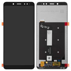 LCD compatible with Xiaomi Redmi Note 5, (black, with touchscreen, Original (PRC))