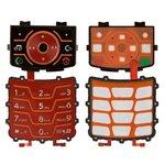 Teclado Motorola Z6, roja, superior, inferior, caracteres latinos