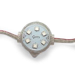 Комплект круглых LED-модулей (полноцветные, 6 светодиодов SMD5050, 40 мм, IP67, 20 шт.)