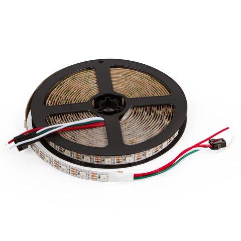 Світлодіодна стрічка SMD5050, WS2812B біла, з управлінням, IP20, 5 В, 60 діодів м, 5 м