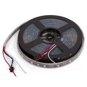 Светодиодная лента, IP67, RGB, SMD 5050, WS2812B, с управлением, черная, 5В, 30 д/м, 1 м