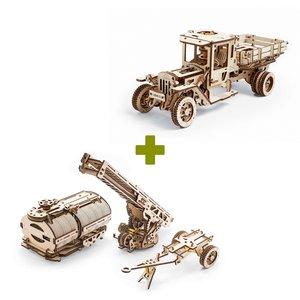Механічний 3D-пазл UGEARS Набір 2 в 1: UGM-11 Вантажівка + Доповнення