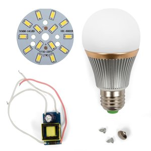 LED Light Bulb DIY Kit SQ-Q22 7 W (cold white, E27)
